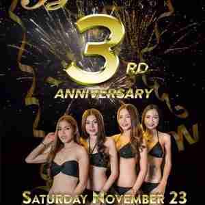 Butterflies Bangkok 3rd Anniversary Party Poster 2019 Nana Plaza Thailand