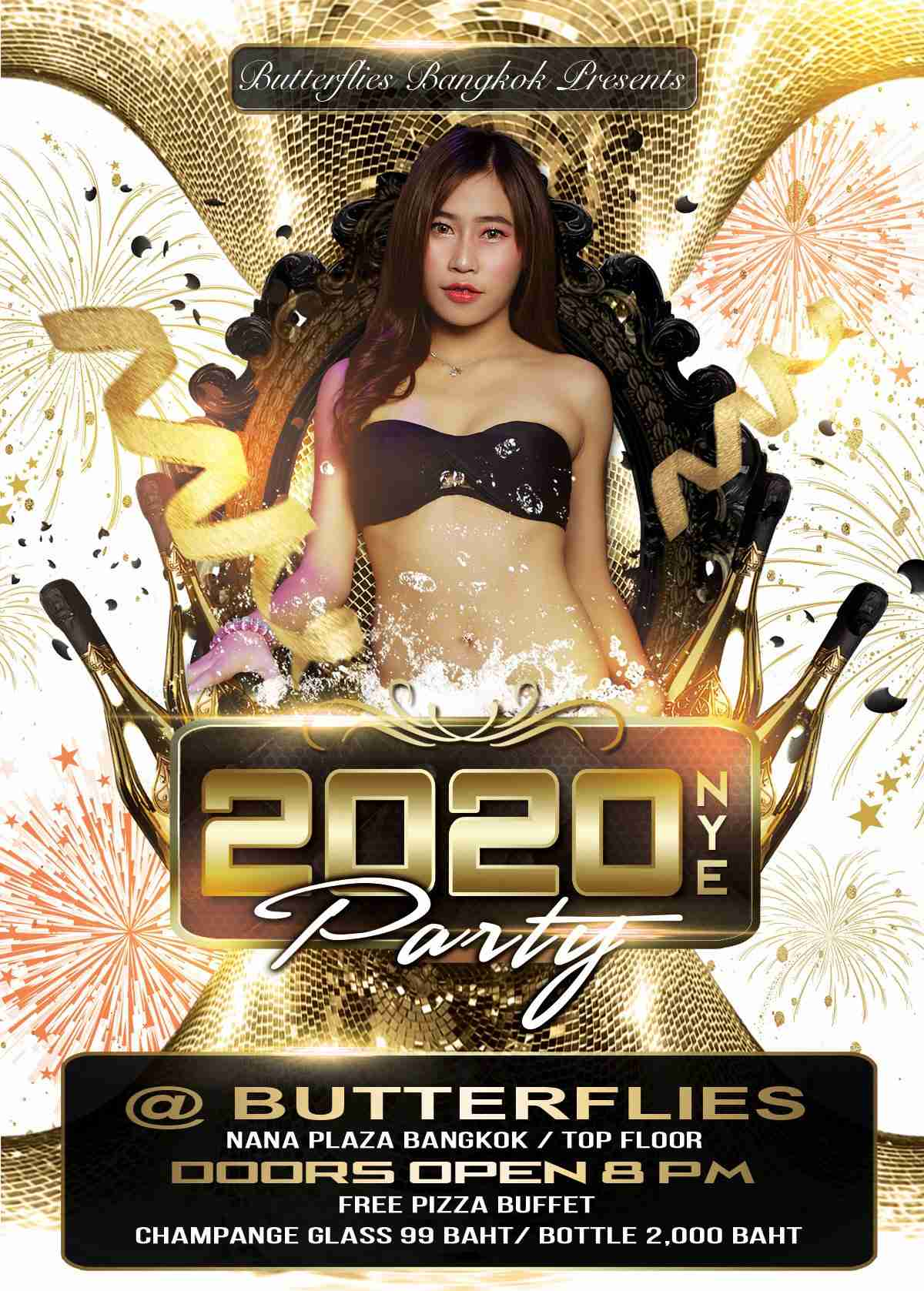 Butterflies New Year's Eve Party Nana Plaza Thailand Bangkok