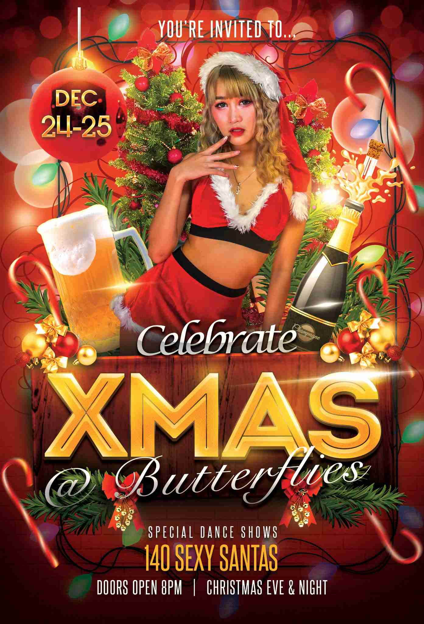 Butterflies Bangkok Nana Plaza Xmas Celebration Christmas Party